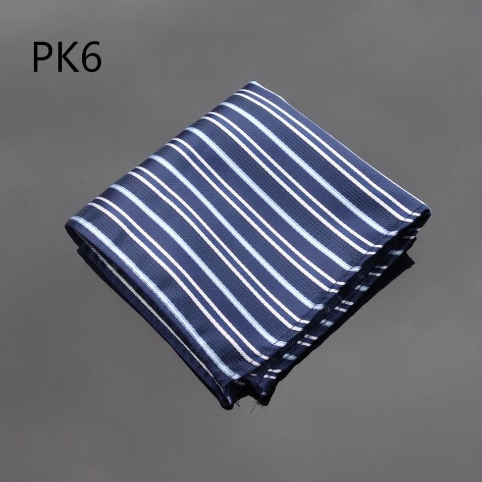 Handkerchief Thin Striped Blue Hanky Men Tie Jacquard Woven Pocket Square Fashion