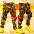 Nuevo 2016 Niños Casual pantalones de camuflaje Niños cabritos de los pantalones del ejército al aire libre bolsillos diseño pantalones coloridos para la Primavera y el Otoño, YC036