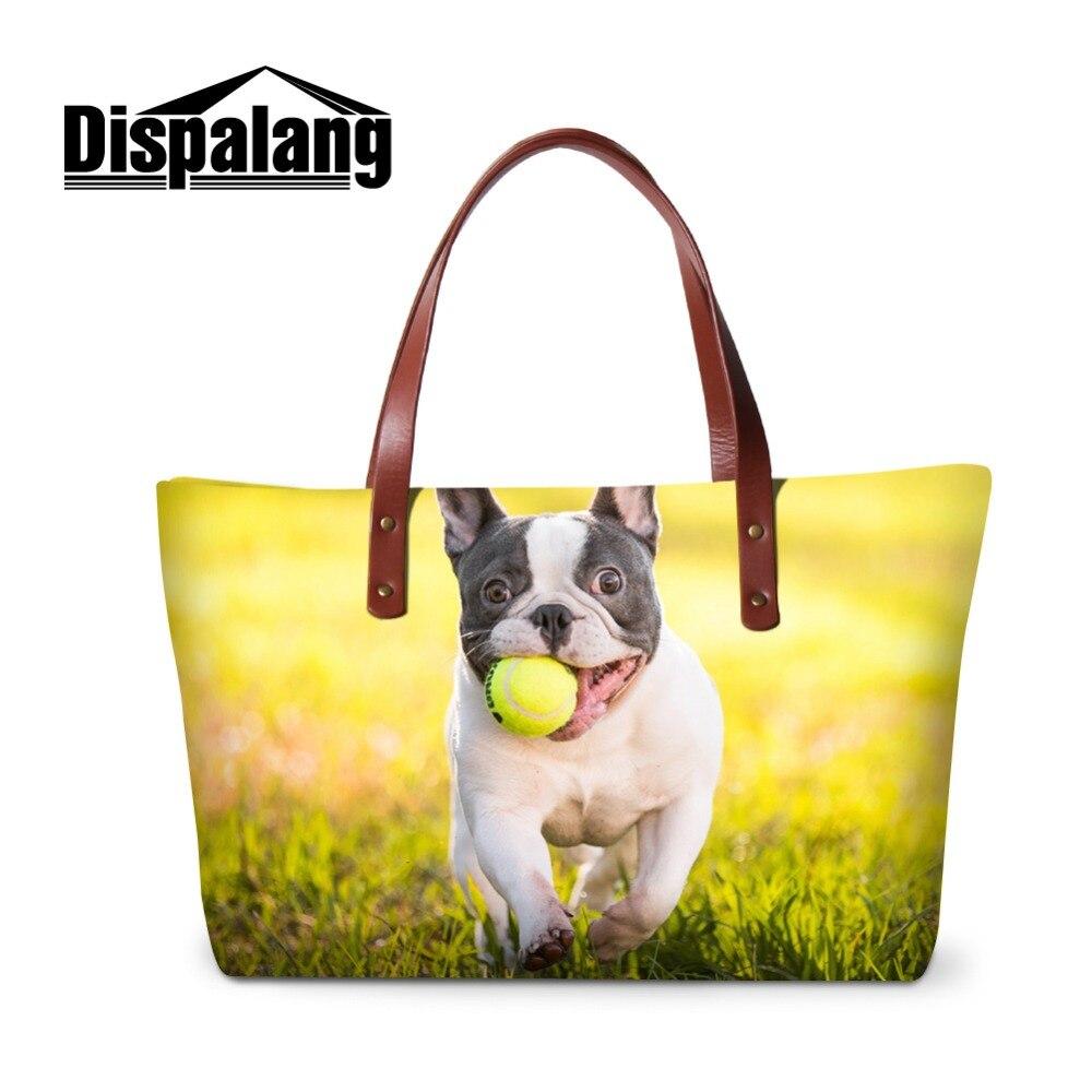 Dispalang élégant femmes sac à main avec Bulldog motif fourre-tout haute chaleur pour fille célèbre marque sacs à main et sac à main dame Shopper sacs