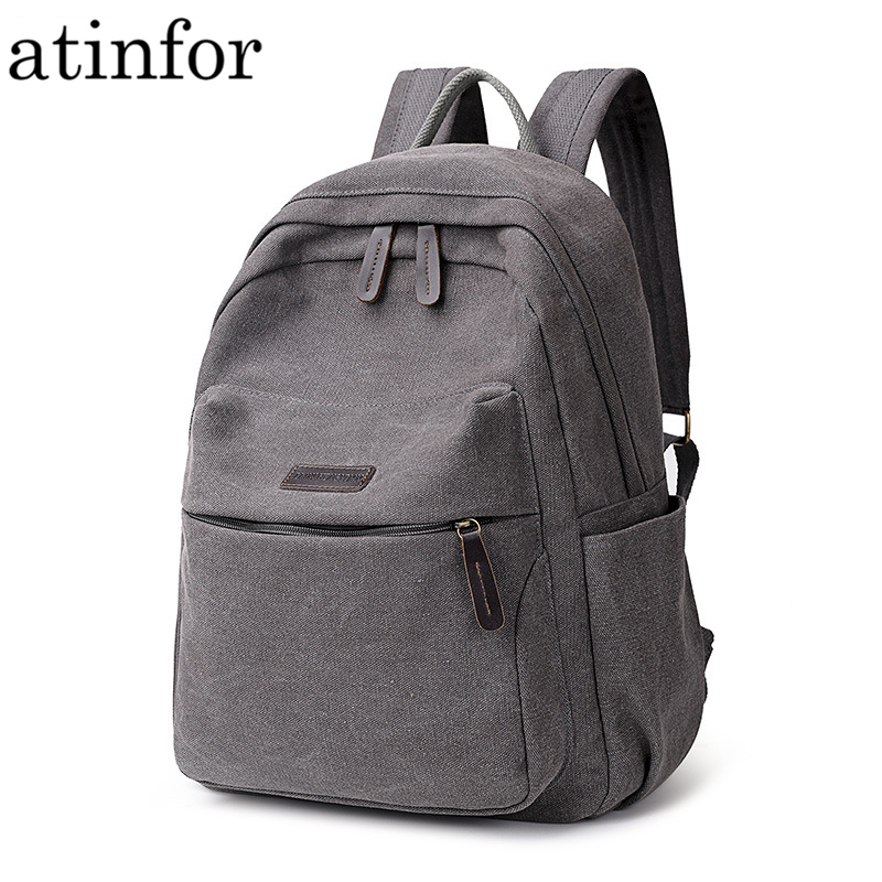 atinfor Vintage Canvas Small Backpack Women Travel Backpacks School Rucksack for Lady