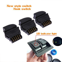 3Pcs Universal Car Electric Power Window Switch On Off With Green Light 12V Wire Harness Kits