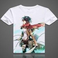 Attack On Titan T Shirt Japanese Anime Short Sleeve T Shirt Shingeki No Kyojin Soft Breathable