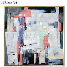 Профессиональный художник 100% ручная роспись абстрактная картина