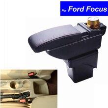 Кожа автомобиль центральной консоли подлокотная коробка для хранения для Ford Focus 2007 2008 2009 2010 2011 2012 2013 2014 автозапчасти Бесплатная доставка