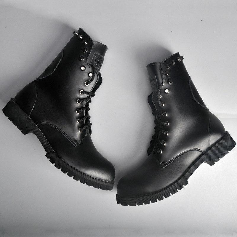 2017 autumn and winter new retro Martin boots leather motorcycle men boots rivets tie British boots бордюр keros ceramica varna cen roses 5х50