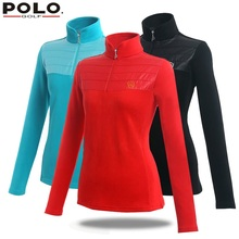 POLO genuine new golf long-sleeved cotton shirts women with collar polos autumn winter mujer femme uniform ladies golf clothing