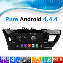 Pure Android 4.4.4 Car DVD GPS Navigation for Toyota Corolla 2014-2015