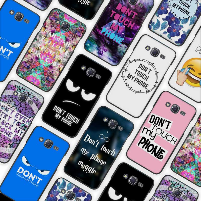 Do Not dont Touch My Phone Black Case Cover Shell for Samsung Galaxy J1 J3 J2 J5 J7 Prime 2016 2017