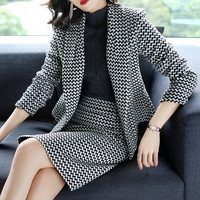 New Women's Spring New Short Skirt Two piece Set Blazer & Suits High Quality Women's Skirt Suits Fashion Office Lady Clothing