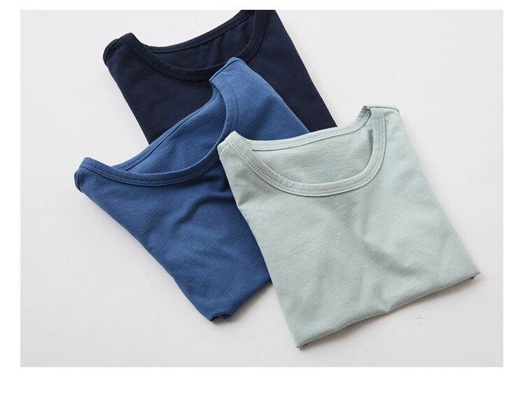 VIDMID Kids T-shirt Tops Baby Boy Cotton Short Sleeve Tops girls Children Cartoon basic color clothes boys girls tees 4018 29 6
