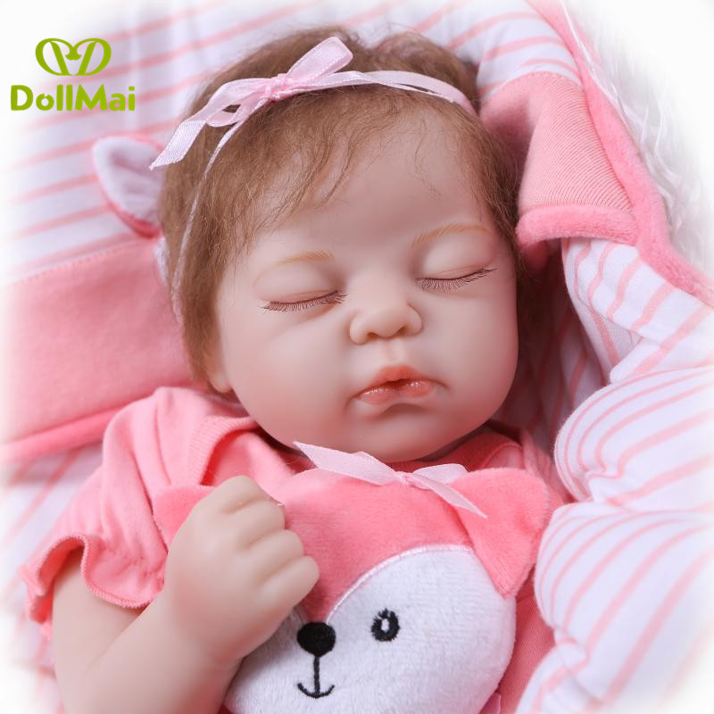 Bebe real doll 50cm silicone reborn baby dolls  alive real sleeping newwborn baby Boutique doll toys for child  boneca rebornBebe real doll 50cm silicone reborn baby dolls  alive real sleeping newwborn baby Boutique doll toys for child  boneca reborn