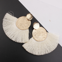 цены на Hot Sale Ethnic Big Fringed Earrings Tassel Earrings for Women Fashion Jewelry Female Bohemian Hanging Drop Earrings Gift Party  в интернет-магазинах