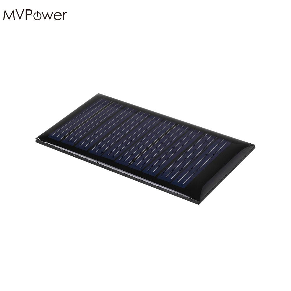 MVPower Portable Mini 5V 0.15W Solar Power Panel Charger Battery Solar Panel Bank DIY Home Portable 5.2x2.9x0.3cm