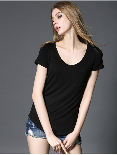 4 Colors Fashion All Match V Neck Short Sleeve T Shirts Summer New Arrivals S-4xl Plus Size Bottoming Loose European Style Tops
