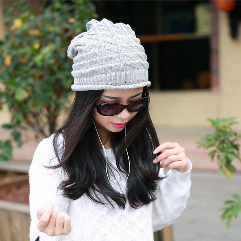 Sell Like Hot Cakes Fashion Caps Warm Autumn Winter Knitted Hats For Women Stripes Double-deck Skullies Men's Beanies 6 Colors тарелка will perform for cakes