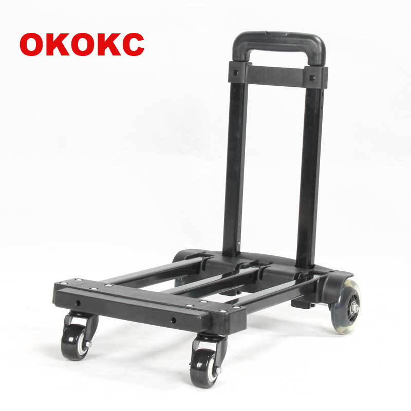OKOKC 4 Universal Wheels Rolling Luggage Cart Caster Wheel Portable Truck Travel Accessories  Maxi Load 80kg