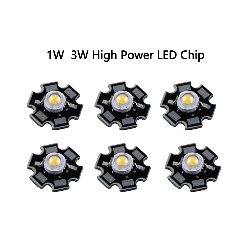 10pcs/lot 3W full spectrum <font><b>led</b></font> grow chip with PCB star <font><b>led</b></font> grow lights broad spectrum <font><b>400nm</b></font>-840nm <font><b>led</b></font> diode for plants image