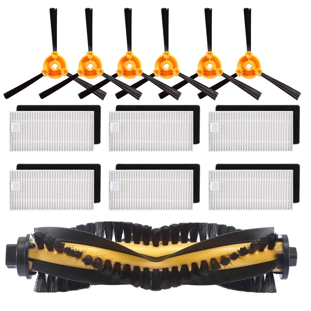 Замена Набор аксессуаров фильтр основной кисточки сбоку Для Ecovacs Deebot N79S N79 робот пылесосы автомобиля (фильтр + кисточки)