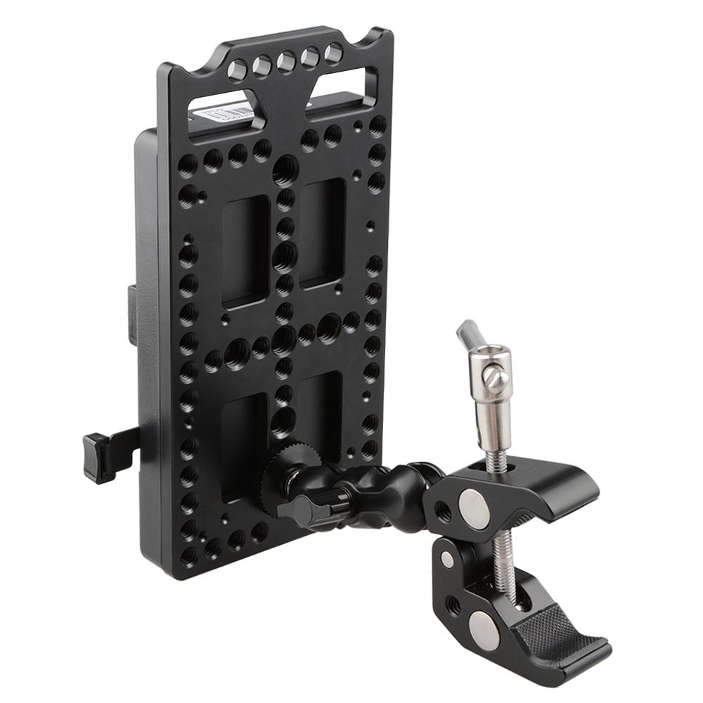 CAMVATE V Lock plaque de montage séparateur d'alimentation avec pince Super pince pince pince à tête sphérique C1584