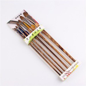 Image 3 - 6pcs/Set high grade weasel hair brush paintbrush tongue peak row acrylic paints oil paint brush Set Drawing Art Supplies