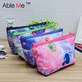 Floral Prints Personality Women Cosmetic Bag Polyester Vintage Style Organizer Toilet Wash And Make Up Bag Saco De Cosmetica
