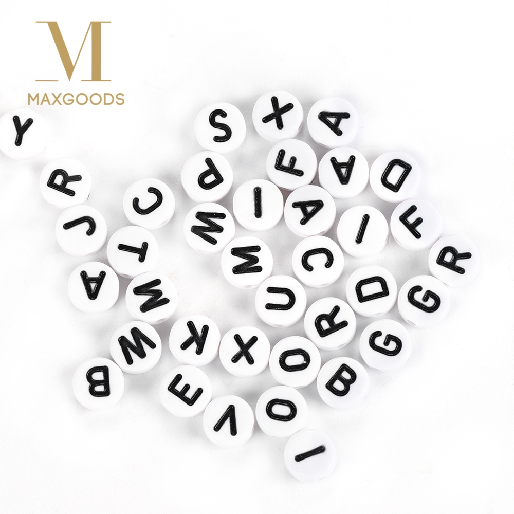 Jewelry & Accessories 100pcs Acrylic Flat Round English Russian Letter Alphabet Arabic Numbers Loose Bead For Diy Bracelets Necklaces Jewelry Making