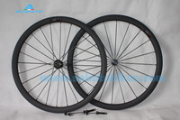 New style,38mm fat U shape carbon clincher wheelset tubular wheelset .