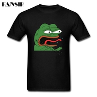Over Size Angry Pepe Frog Meme Leisure Tees Shirt Men Man's Short Sleeve Cotton Custom Men Tshirts Group Brand Clothing