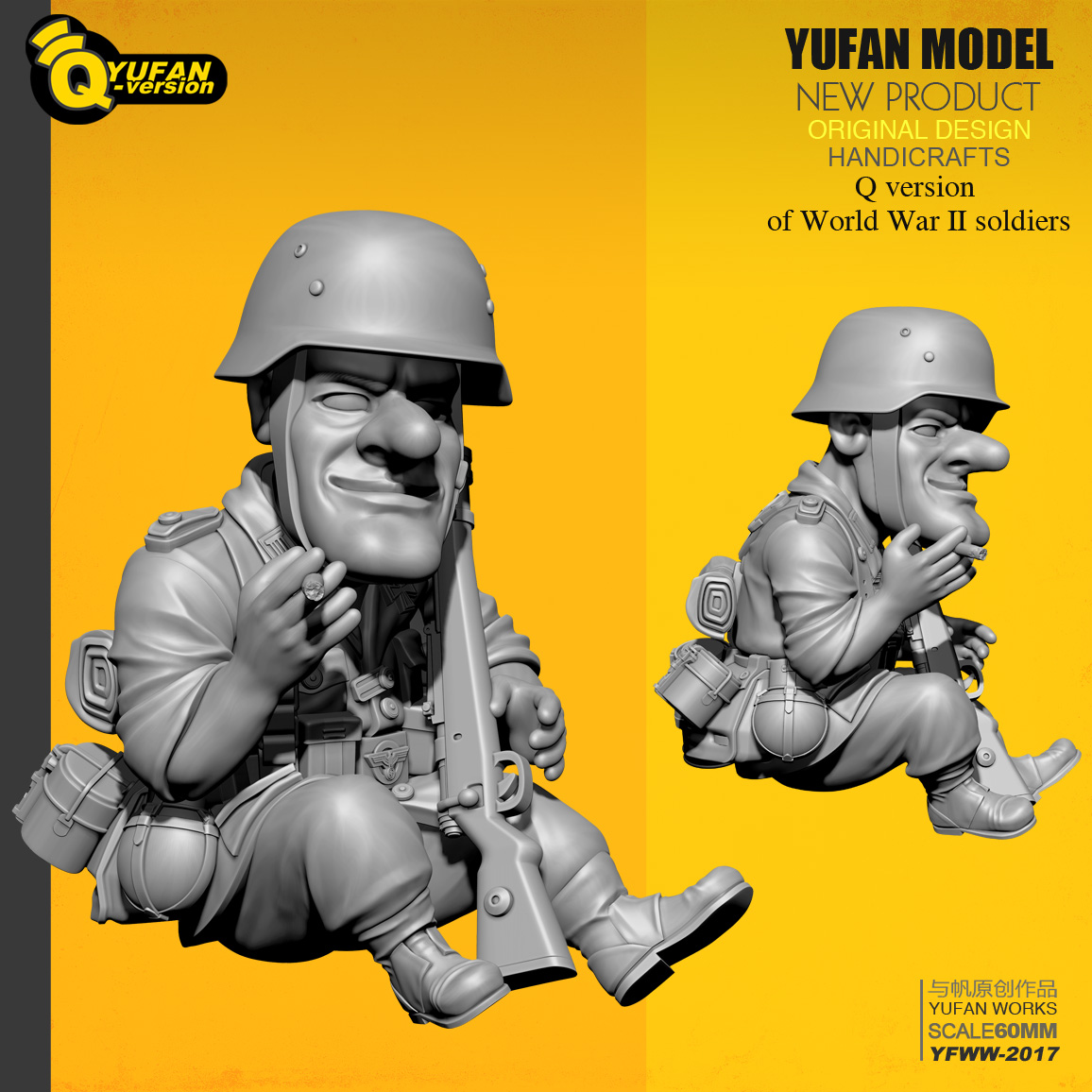 Cute Soldier Girl soldier Resin 1//35 scale model 55 mm