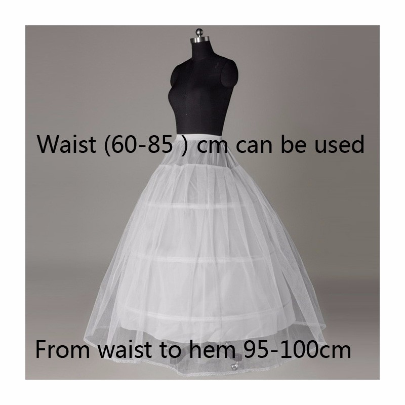 HS151-Lace-Edge-3-Hoop-Petticoat-Underskirt-For-Ball-Gown-Wedding-Dress-Diameter-Underwear-Crinoline-Wedding