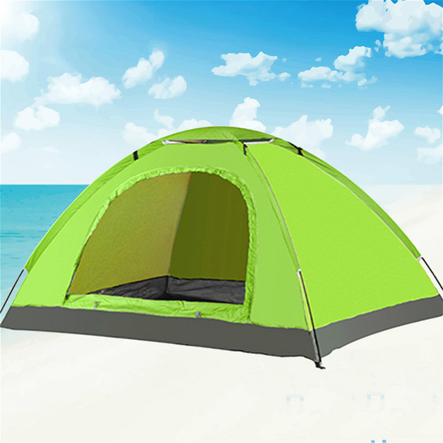 High Quality New Portable Single Layer 2 Person Rainproof automatic Outdoor Camping Tent for Hiking Fishing Hunting