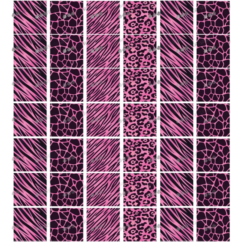 Leopard Print Pattern Sugar Stamp Chocolate Transfer Paper For Cake , Chocolate Decorating Tools,Kitchen Chocolate Baking Tool
