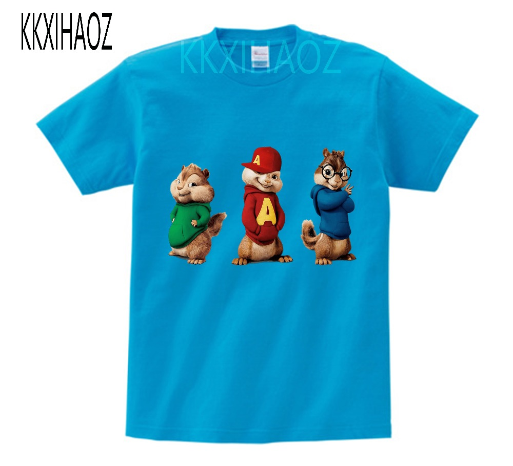 Alvin and the Chipmunks Alvin Print t-shirt kids tops Tee Comfortable t shirt boy girl Casual cartoon Short Sleeve TEE camiseta 5