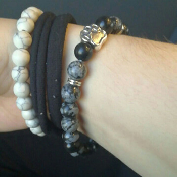 Bracelet Labradorite Grise