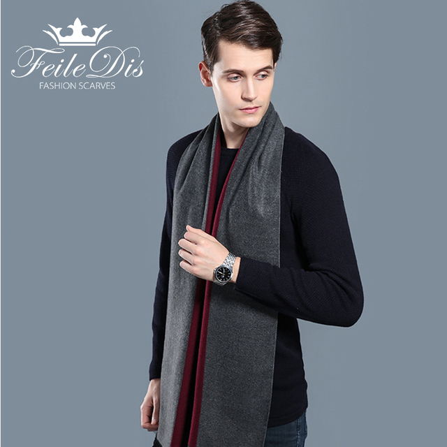 [FEILEDIS]2018 new men's scarves autumn and winter multi-purpose decorative men's business scarves FD226