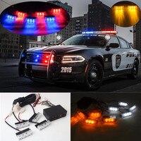 2x3 4x3 6x3 8x3 Warning EMS Police Lights LED Car Strobe Flash Firemen 12vEmergency High Power
