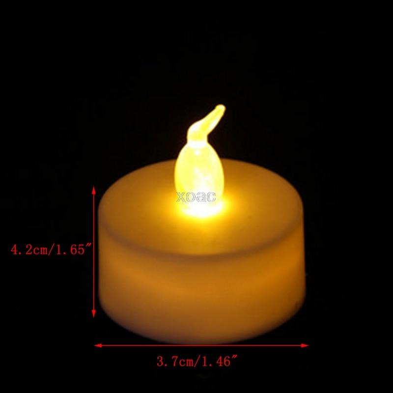 6Pcs Flameless Electronic LED Candle Flickering Tealight Night Light Home Decor M05 dropship