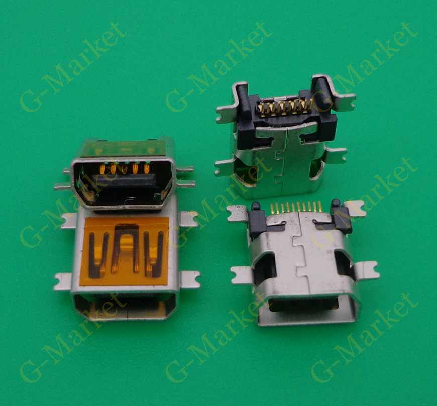 <font><b>Mini</b></font> <font><b>USB</b></font> Type B <font><b>10</b></font> <font><b>Pin</b></font> SMT SMD Mount Jack <font><b>Connector</b></font> Charging Socket v3 port for Coolpad D550 D508 W700 F600 F800 F650 N900 E270 image