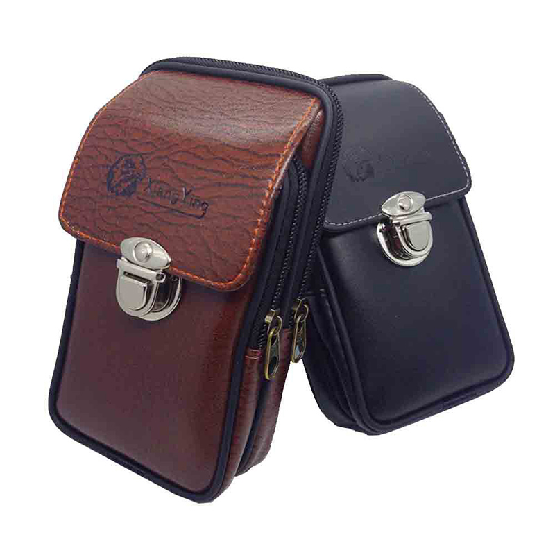 Multipurpose Camping Hiking Zipper Tactical Belt Outdoor Pouch Waist Bag Vintage Security Pack Mini Men Multipurpose Camping Hiking Zipper Tactical Belt Outdoor Pouch Waist Bag  Vintage Security Pack Mini Men Faux Leather Waist Bag