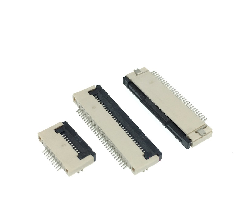 NEW FFC FPC Cable Connector Socket Flip Through 0.5mm Pitch 4 Pin 5pin 6pin 8pin 10pin 12pin 14pin 16pin 18pin 20pin 22pin 24pin