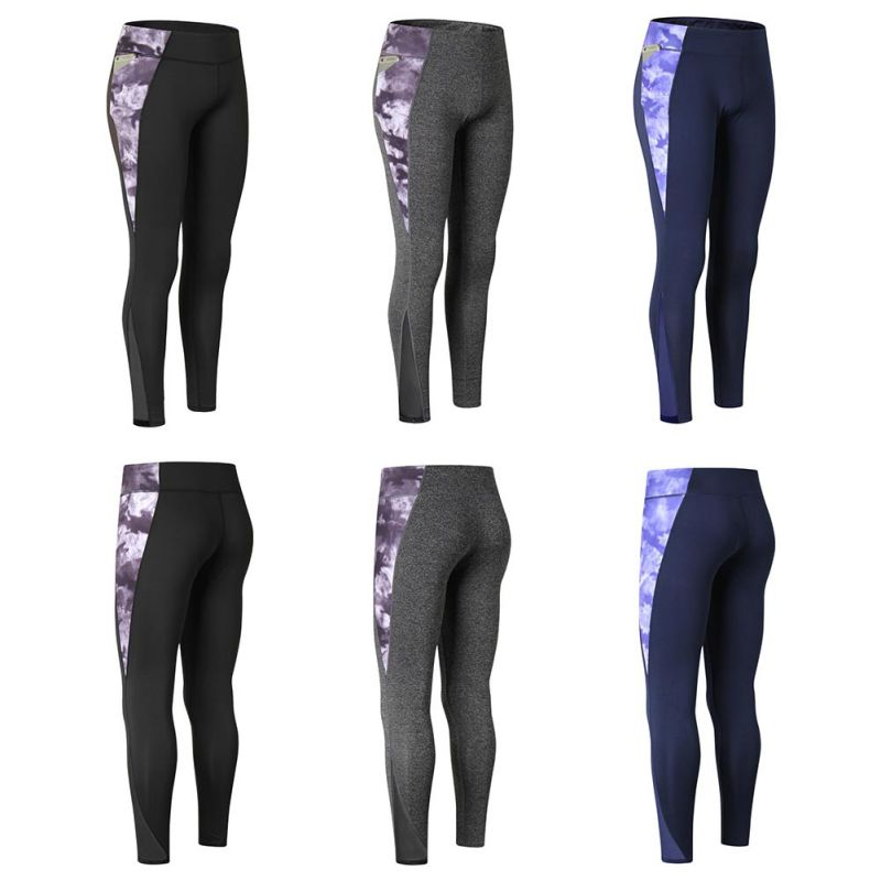 2018 New Woman Quick-Drying Yoga Pants Breathable Trousers Gym Workout Outdoor Print Stitching Climbing Pants
