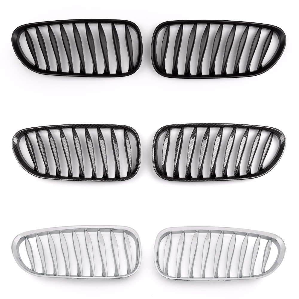 Areyourshop Car For BMW Front Fence Grille Grill For BMW Z4 E85 E86 2003-2008 1Pair Three Color Car Auto Styling Exterior Covers car front bumper mesh grille around trim racing grills 2013 2016 for ford ecosport quality stainless steel