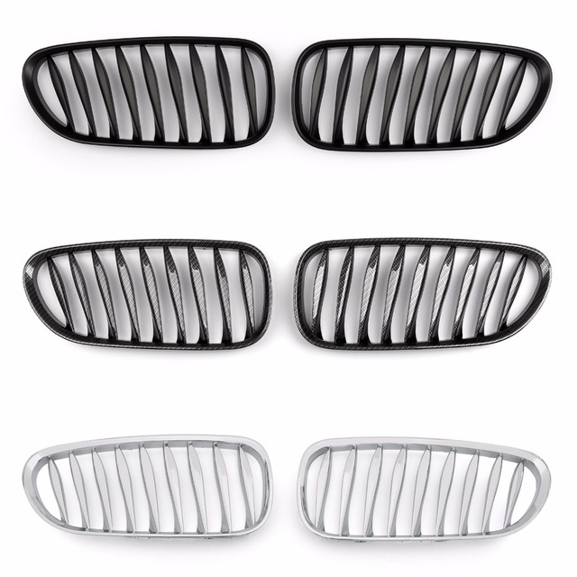 Areyourshop Front Fence Grill For BMW Z4 E85 E86 2003-2008 1Pair Three Color Car Auto
