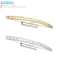 EGOBOO 15w Indoor LED crystal decorative wall mounted bathroom mirror wall lamp lighting light ce fcc rohs authenticate