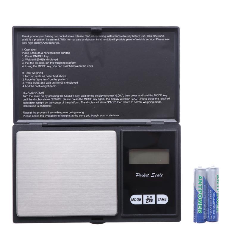 Digital-Scale Portable Electronic-Platform-Scale Mini Tea Leaf Food-Jewelry Large-Display