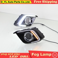 D_YL car styling LED DRL Light Guiding Design LED Daytime Running Light For Mazda 3 Atenza 2013 2015 fog lamp led fog lights