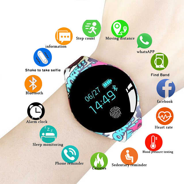 Fashion New Color Touch Screen Smartwatch Monitor Smart Watch Sport Fitness Men Women Kids Wearable Devices For IOS Android pkQ9