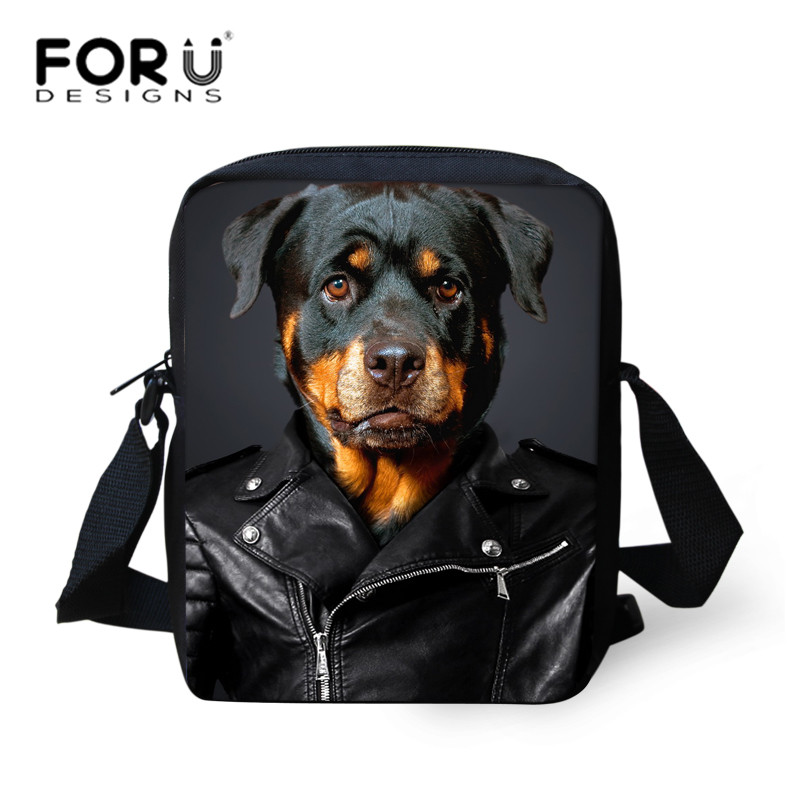 Forudesigns Для женщин Курьерские сумки модные 3D Собака печати Кроссбоди сумка женская Ротвейлер Собака сумка Мода Bolsos Mujer