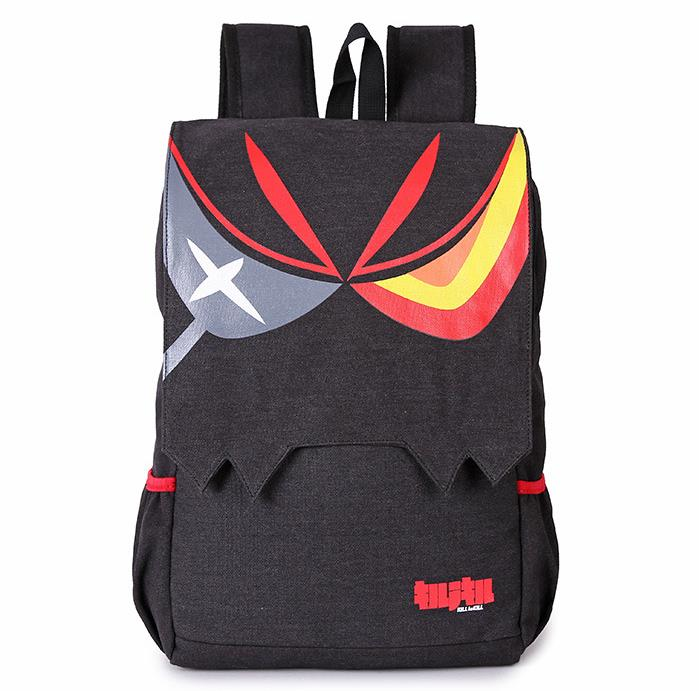 Cartoon Manga KILL La KILL Backpacks Anime Matoi Ryuuko Black Large Capacity Men And Women Ourdoor Casual Travel Backpack