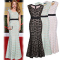 Women's Formal Business Floral Long Dresses Gown Party Wedding Sleeveless Maxi Dresses